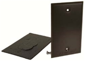 One Gang Blank Receptacle Cover - Bronze