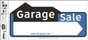 HY-KO SSP-202 Directional Sign, Garage Sale, White Legend