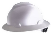 Ratchet Fiberglass Hard Hat White