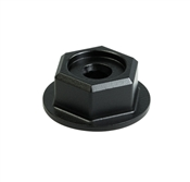 Hex-Head Washer Nut, Black, 8 Pack