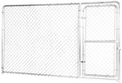 10' x 6' Economy Chain Link Kennel Panel with Gate