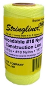 Stringliner #1/4 Braided Construction Line 250' Fluorescent Yellow