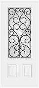 3068R 3/4 View Iron Springs Steel Door, Oil Rubbed Bronze