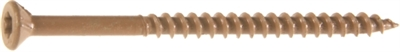"2"" #9 Star Drive Exterior Screw, Brown, 25 Lb Bucket"