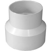 """4""""x3"""" PVC S&D Reducing Coupling (HubxHub)"""