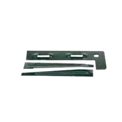COL-MET 14EP End Piece with Stake, 14 ga Thick, Steel, Green, Powder-Coated