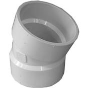 """4"""" PVC-DWV 22-1/2 Elbow (HubxHub)"""