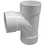 "6"" PVC S&D Sanitary Tee (HubxHubxHub)"