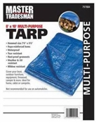 8' x 10' Blue Grommeted Poly Tarp