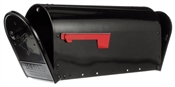 Black Galvanized Double Door Mailbox