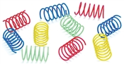 Wide Colorful Springs Cat Toy, 10 Pack