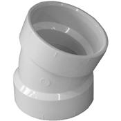"""2"""" PVC-DWV 22-1/2 Elbow (HubxHub)"""