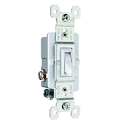 White 15 Amp 120 Volt 3-Way Toggle Switch