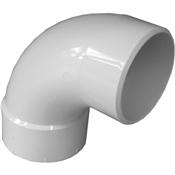 "4"" PVC S&D 90° Sanitary Street Elbow (HubxSp)"