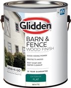 Grab-N-Go™ Exterior Flat Barn & Fence Wood Finish, White, 1 Gallon