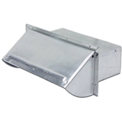 3 1/4x10 Galvanized Wall Cap
