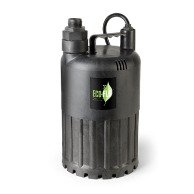 1/2 HP Thermoplastic Submersible Utility Pump with Manual Operation