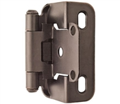 """1/2"""" Overlay Hinge Self Closing,  Partial Wrap, Oil Rubbed Bronze"""