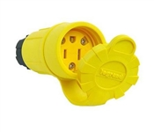 Watertight Connector, 2-Pole, 15-Amp, 125-Volt, Yellow