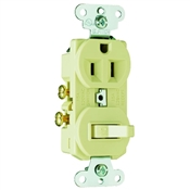 Ivory 15 Amp 125 Volt Toggle Switch/Duplex Receptacle Combination