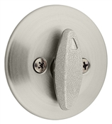Single Sided Single Cylinder Deadbolt, Satin Nickel