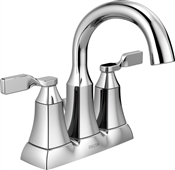 Sawyer 2 Handle High Arc Bathroom Faucet, Chrome