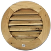 "24"" Round Redwood Louver/frame"