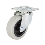 Prosource JC-N04-G Swivel Caster, 3 in Dia Wheel, 130 lb Weight Capacity, Thermoplastic Rubber Wheel