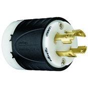Black 30 Amp 250 Volt 4 Wire Lock Plug