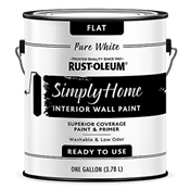 Simply Home Pure White Flat Interior Wall Paint