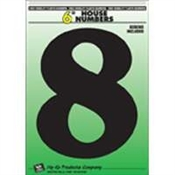 "6"" Black Plastic House Number 8"