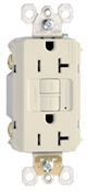 20 Amp Almond, 2 pole, 3 wire, grounding,  self testing GFCI outlet with matching wall plate, UL listed