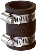 """Rubber Pipe Connector, 2"""" x 2"""""""