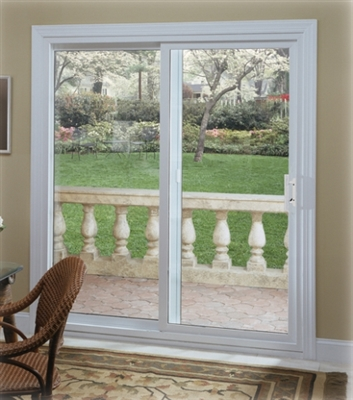 6068 #4000 Bronze Insulated Glass Sliding Patio Door Right Hand  Operating/Fixed