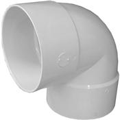 "6"" PVC S&D 90° Short Turn Elbow (HubxHub)"