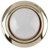Lighted White And Silver Door Chime Button