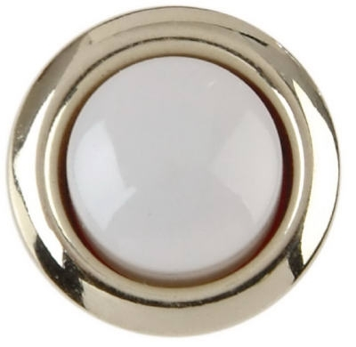 Lighted White And Gold Door Chime Button
