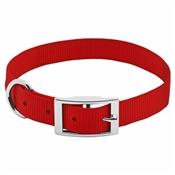 """Pet Expert Dog Collar, Red, 1"""" x 19-22"""""""