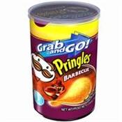 Pringles PBBQ12 Potato Crisps, Barbecue, 2.5 oz Can
