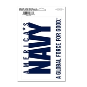 "4.5"" x 7"" US Navy Multi-Use Decal"