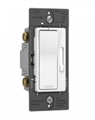 Compact Fluorescent Light/LED Toggle Dimmer, White
