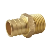 Apollo APXMA1234 Pipe Adapter, 3/4 in PEX, 1/2 in MPT