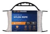"""3/16"""" X 50' Braided Nylon Rope, White"""