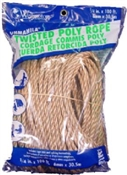 "1/4"" Unmanila Twisted Poly Rope, 100'"