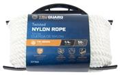 """1/4"""" X 50' Twisted Nylon Rope, White"""