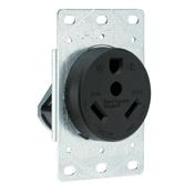 Black 30 Amp 125 Volt Angled Plug