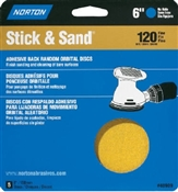 "6"" 120 Grit Stick & Sand Disc - 5 Pack"