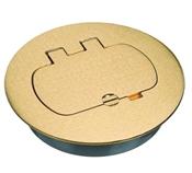 Receptacle Floor Box Cover, Rectangular, Brass