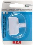 White, Triplex 3 Line Jack Plug