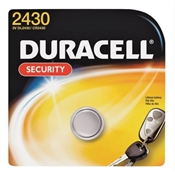 Duracell Coin Cell Battery, Lithium, Manganese Dioxide, CR2430 Battery, 270 mAh